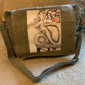 NWT Crossbody bag from military tents 1 of a kind.